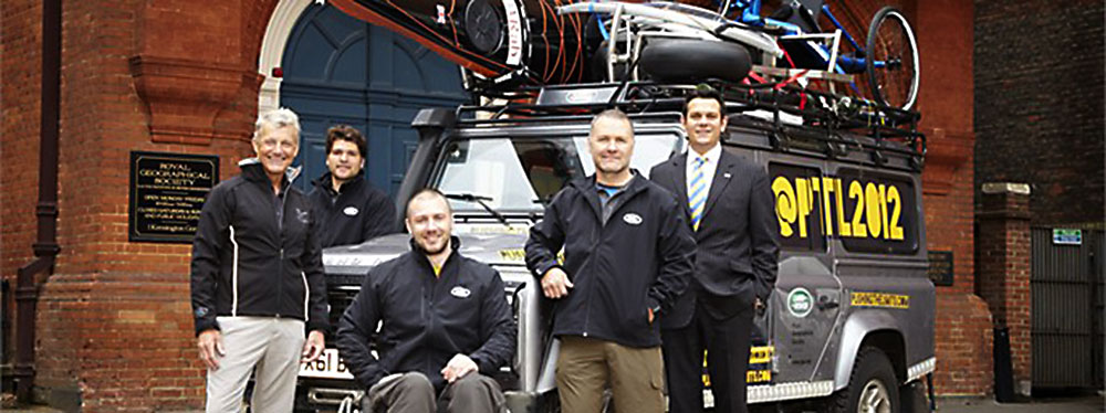 Land Rover's support of the Pushing the Limits adventure tour