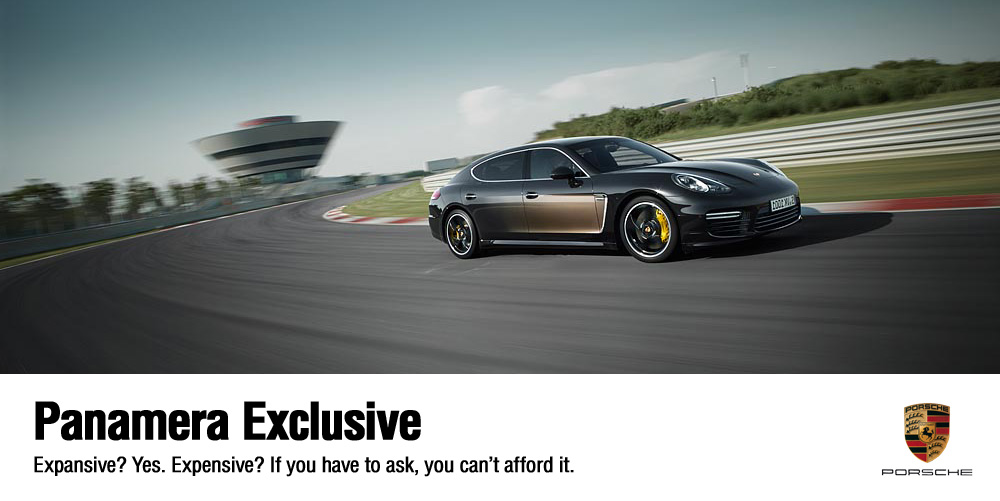 Porsche's very expansive (and expensive) Panamera Exclusive series