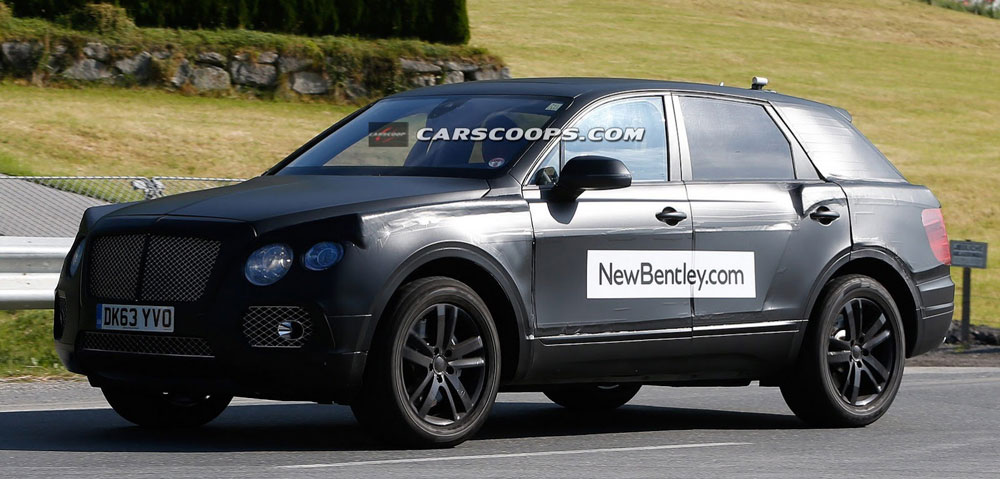 Bentley Bentayg . . . another high-end SUV is coming.